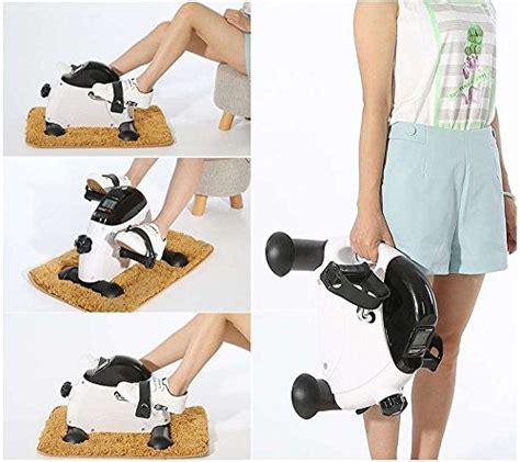 under desk exercise peddler exefit mni exercise bike pedal exerciser stationary