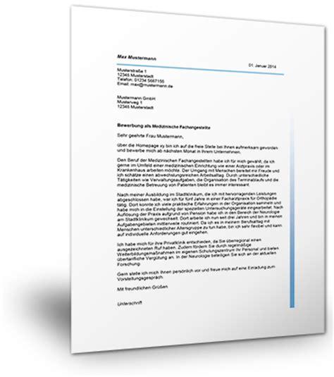 Bewerbung Muster Medizinische Fachangestellte Bewerbung Als Medizinische Fachangestellte Mustervorlage