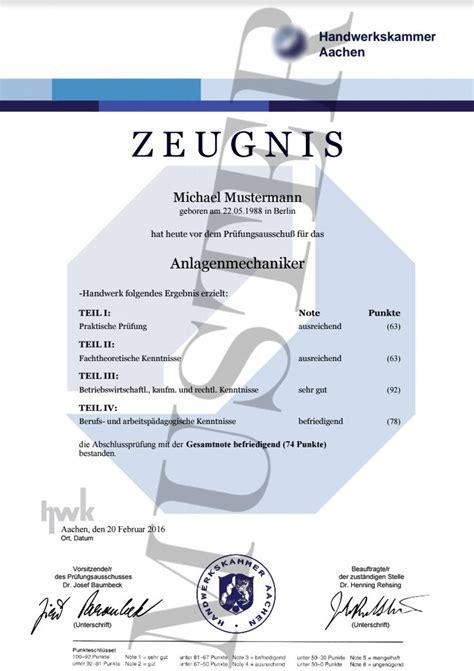 Bewerbung Anlagen Urkunde Oder Zeugnis 12 Best Images About Hwk Zeugnis Oder Pr 252 Fungszeugnis