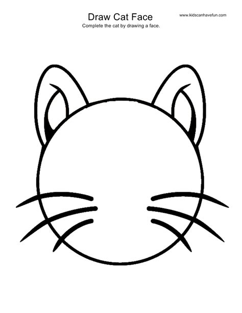 draw cat face activity more drawing pages of animals