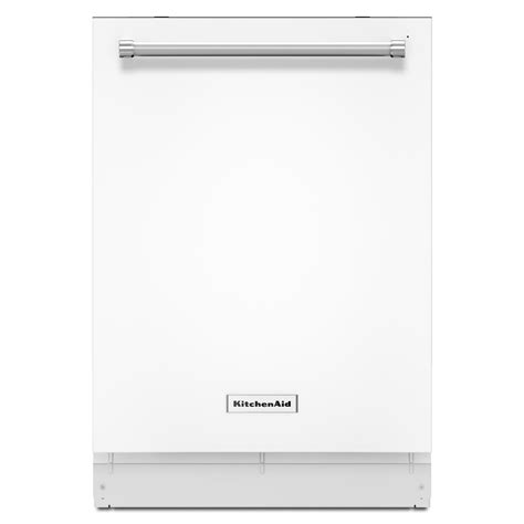 kitchenaid dishwasher kitchenaid kdte204ewh 24 quot top control built in dishwasher white