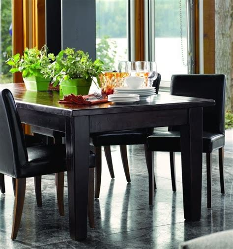 lake terrace dining room black wood dining room table and
