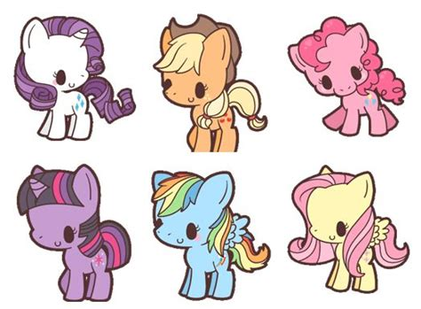 imagenes kawaii mlp chibi pony pattern package pinterest friendship my