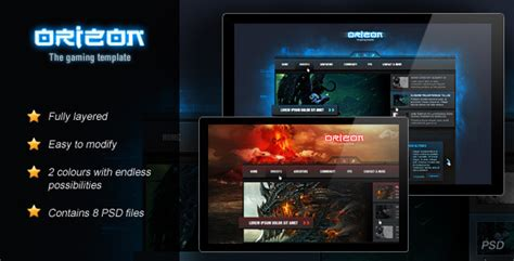 template photoshop gaming orizon the gaming template by skywarrior themeforest