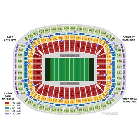 houston texans seating rows houston texans ticket and seating information