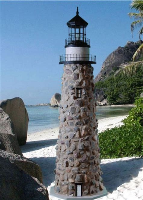 lawn lighthouses real rock and mortar lighthouse