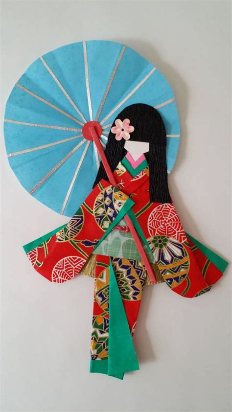 Traditional Japanese Origami - washi ningyo traditional japanese kimono paper by www