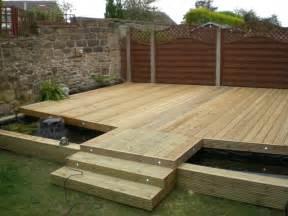 Pond Deck Designs Sheffield Landscaper Gallery Patios Decking Ponds Fencing