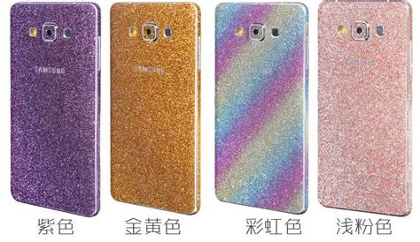 Sticker Fullbody Glitter Metalik Samsung Note 3 2018 luxury shiny glitter rainbow sticker cover for samsung galaxy a9 a510 a710 j5 s7