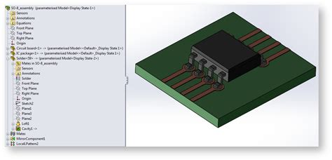 Small Outline Integrated Chip by Synchronizing Selections Between Solidworks 174 And Comsol Multiphysics 174 Comsol