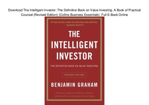 libro intelligent investor the definitive download the intelligent investor the definitive book on