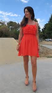 what colour shoes to wear with orange dress club vogue