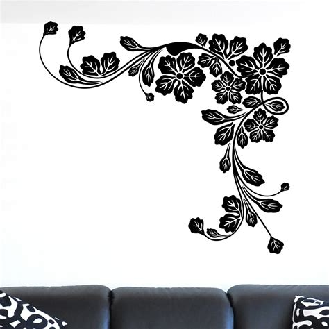 Leaves Wall Sticker floral corner leaves wall sticker world of wall stickers