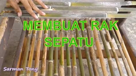 membuat rak serbaguna  bambu  kayu bekas youtube