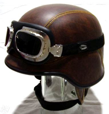 we sell scooter retro vespa japan army helm brown leather