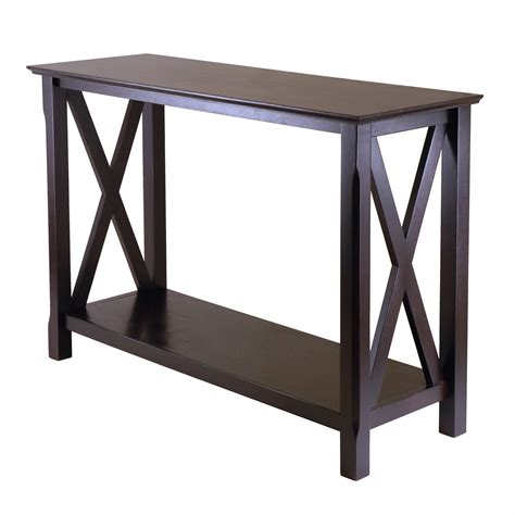 console table with bench winsome wood 40445 xola console entry table lowe s canada
