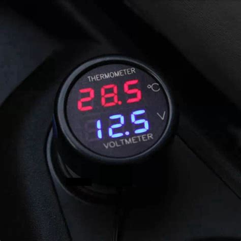 Volt Meter Er Meter Termometer Dual Usb Car Charger Mobil kopen wholesale auto thermometer 12 v uit china auto thermometer 12 v groothandel