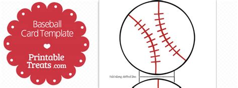 how to make a baseball card template printable baseball card template printable treats