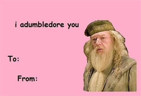 Cute Valentines Memes - corny harry potter valentines incredible things