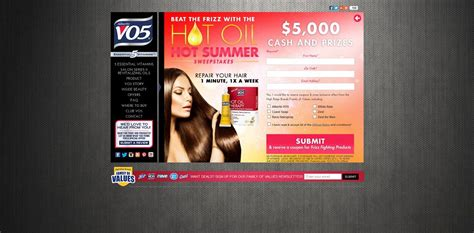 Vo5 Sweepstakes - vo5 5 000 hot oil hot summer sweepstakes