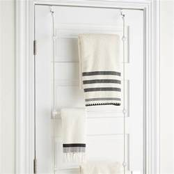 bath towel hook rack towel rack bungee overdoor towel rack by umbra the