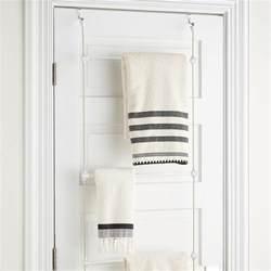 the door towel holder towel rack bungee overdoor towel rack by umbra the