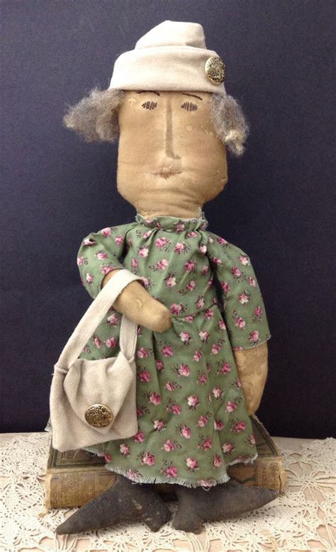 Handmade Primitive Dolls - handmade folk doll primitive doll collectible folk