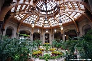 Winter garden a glass roof illuminates the center fountain sculpture