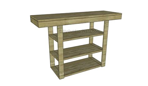how to build a sofa table how to build a console table free outdoor plans diy