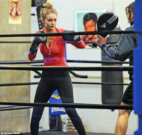 gigi hadid and tips to fight the urge to eat gigi hadid heads to the boxing gym after late night