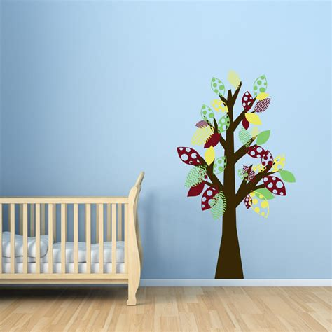 playroom wall stickers whimsy tree colorful playroom wall decals stickers