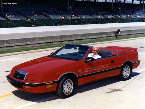 1987 Chrysler Lebaron Convertible Chrysler Lebaron Convertible Indy 500 Pace Car 1987 Images