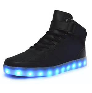 top lights mid top led sneakers deluxe rechargeable led light up