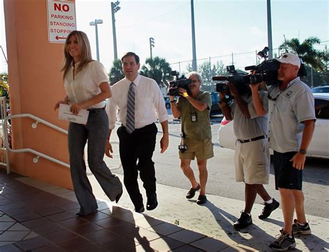 senators wife senate republican nominee marco rubio s wife cast her vote