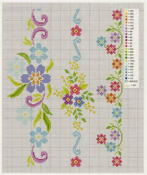 imagenes flores en punto de cruz graficos punto de cruz gratis sabanas 15