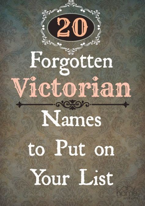 add  vintage victorian names   baby names list