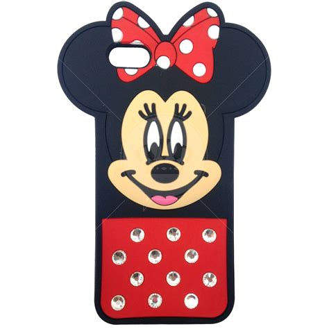 Hv8406 Iphone 5 5s Minnie Mouse Disney Silicone Rubb Kode Bis8460 capa de silicone minnie 3d brilhante para iphone 5 5s