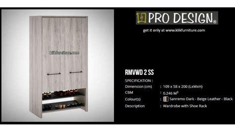 Rak Sepatu Pro Design rmvwd 2ss lemari sepatu serbaguna romanov pro design