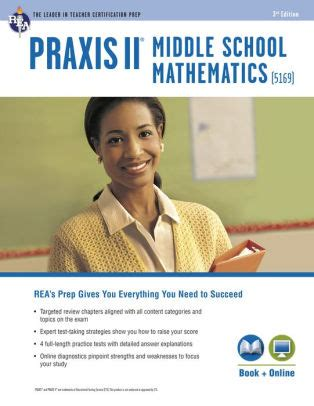 praxis ii middle school mathematics 5169 book