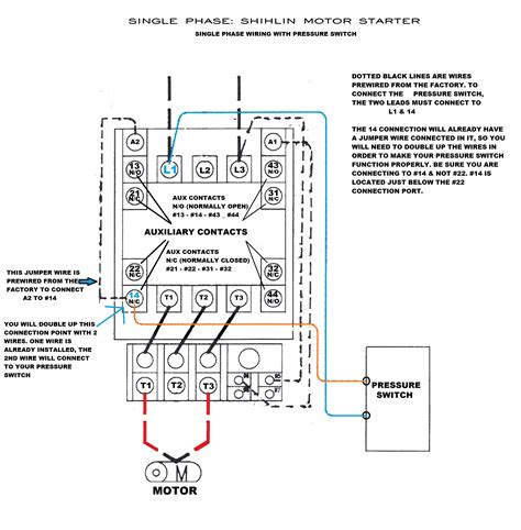 3 phase air compressor pressure switch wiring diagram
