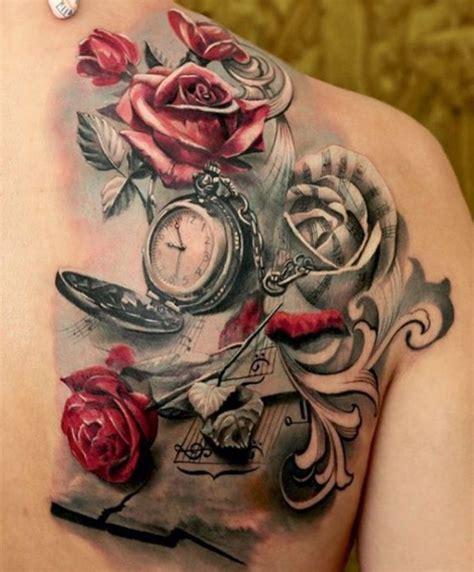 color tattoo designs for those flower pocket tattoos