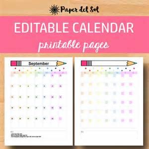 Calendario 2018 Editable Printable Calendar 2017 2018 Editable Calendar Monthly