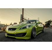 Hyundai Genesis Stance Tuning Green Coupe
