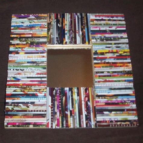 Magazine Paper Craft - recycled picture frame made from rolled up magazine