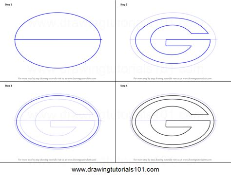 how to a bay how to draw green bay packers logo printable step by step drawing sheet