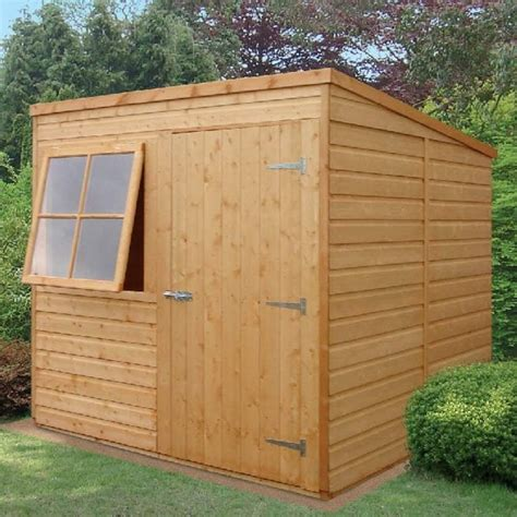 Pent Shed Sale by Shire Shiplap Pent Shed 7x7 Garden