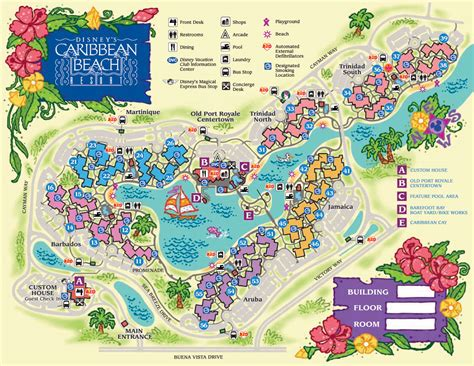 Disney World Caribbean Beach Resort Map disney s caribbean beach resort map wdwinfo com