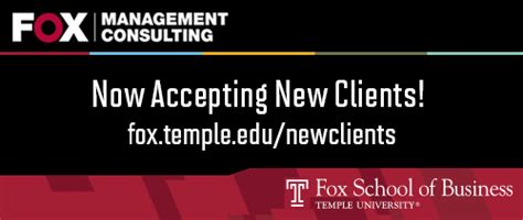 Management Consultants Mba Intern Indeed by Fox Management Consulting News Fox School Of Business
