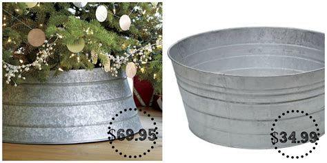 crate barrel galvanized tree collar decor look alikes