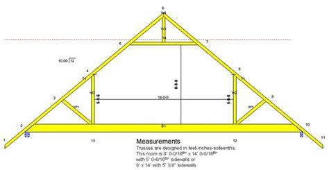 attic truss room size attic truss building diagrams